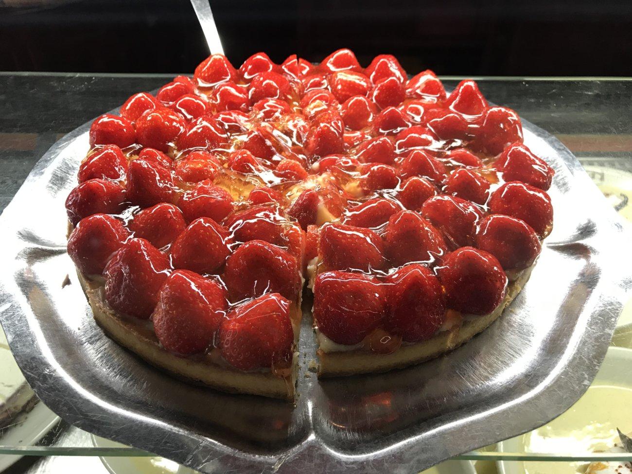 Photo tarte à la fraise